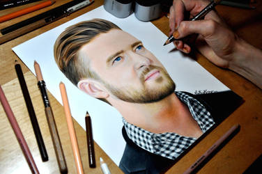 Drawing Justin Timberlake by Heatherrooney