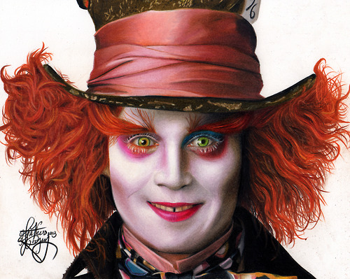 Johnny Depp Mad Hatter Drawing drawing Johnny Depp as...