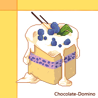 Pixel Art Icon: Let's get come Blueberry Cake! by Chocolate-Domino