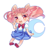 Chibi Sailor ChibiMoon by Chocolate-Domino
