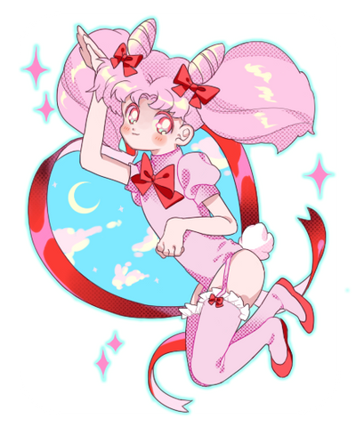 Moon Rabbit by Chocolate-Domino