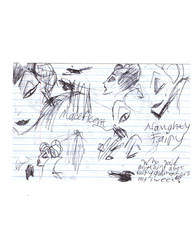 Maleficent Sketches by Deidaraforever96