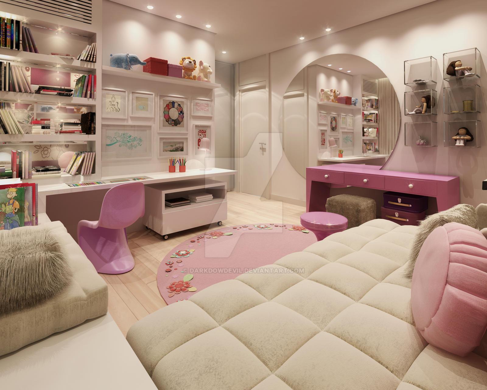 girl bedroom2 by DARKDOWDEVIL