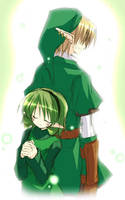Link and Saria by Twitchy-Loverboy