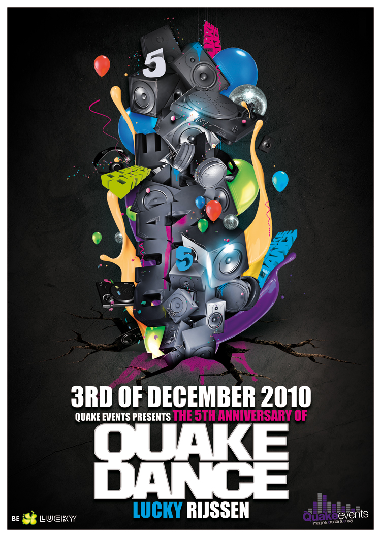 QuakeDance flyer by Fla4flav