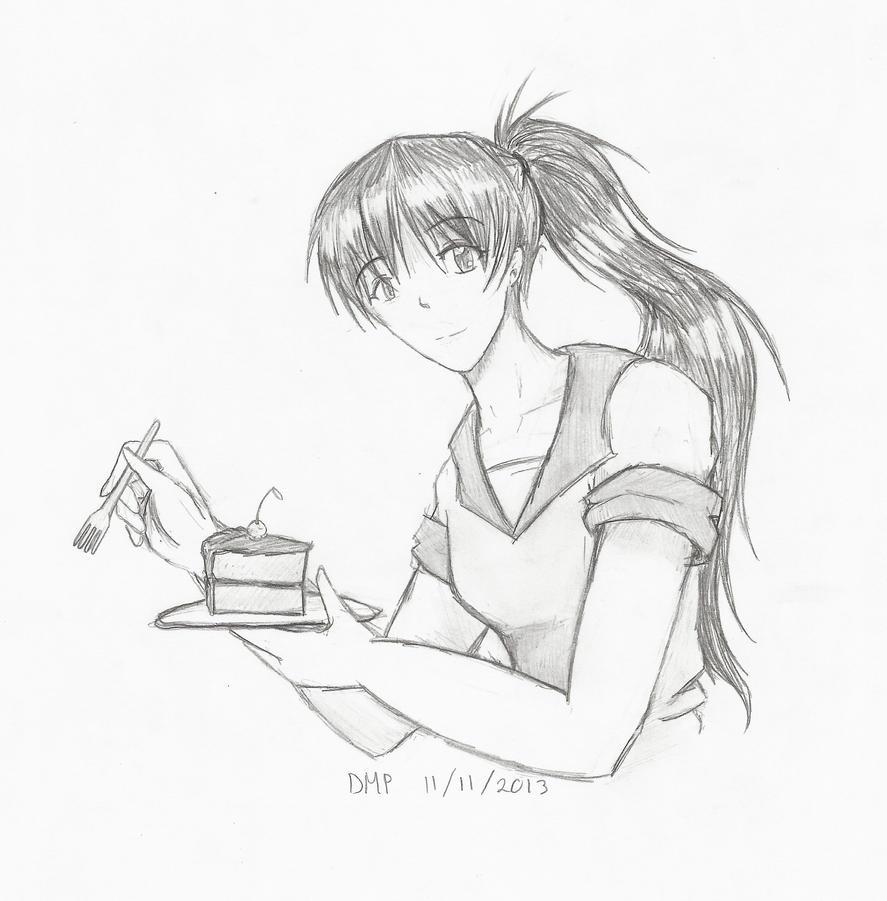 Audrey - A Piece of Cake by KumaDanDan on deviantART