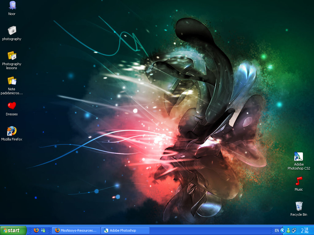 Desktop screenshot by MissNooys-Resources