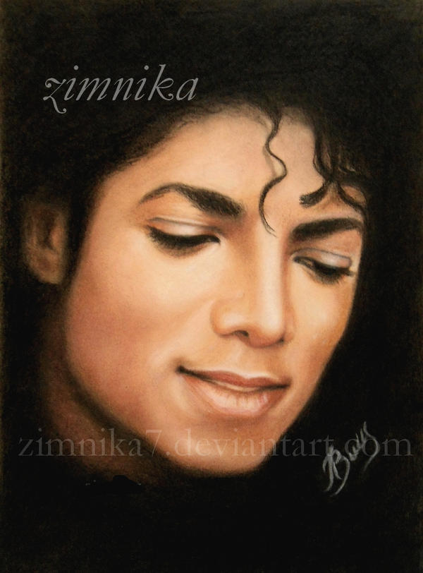 Portrait of Michael Jackson by zimnika7