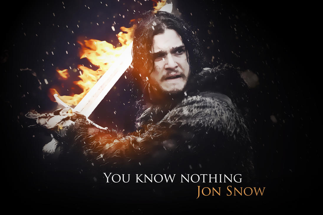 You Know Nothing Jon Snow By OvGG