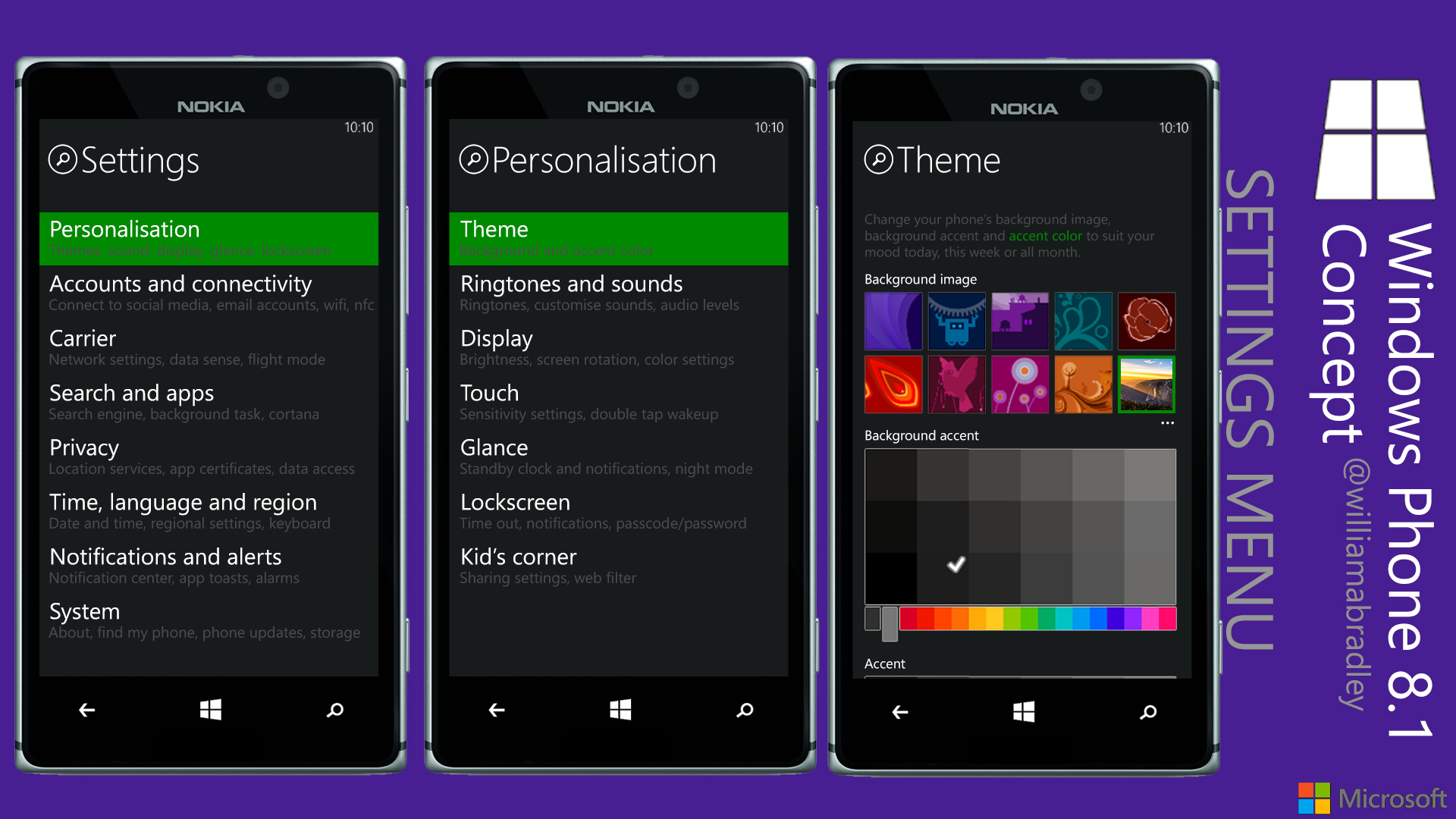 Windows phone 8 1 background image -  Williamabradley Windows Phone 8 1 Settings Menu Concept By Williamabradley
