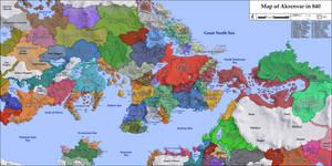Map of Akrenar and surroundings in 840