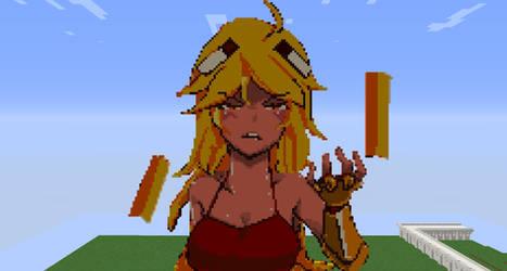 Minecraft Pixel Art: Blazette Shy by Mrbt0907