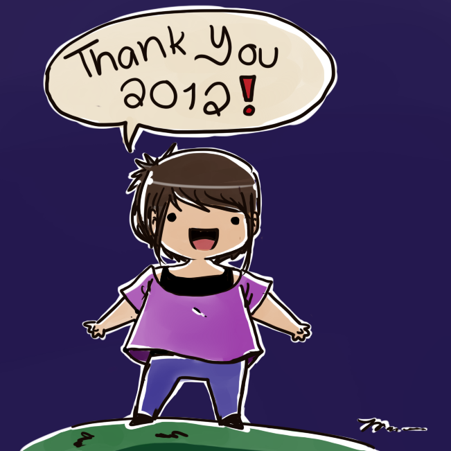 Thank You 2012! by abegailbucu