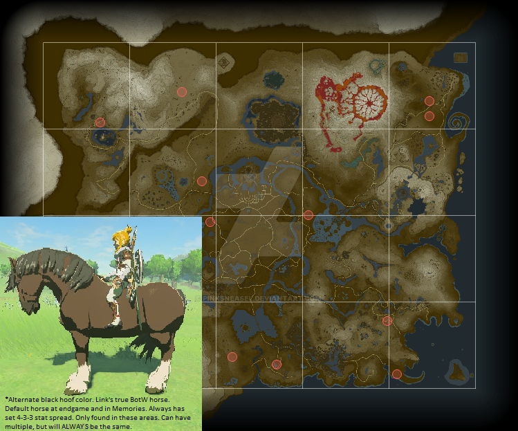 BotW Special Link Horse Easter Egg by Pinksneasel