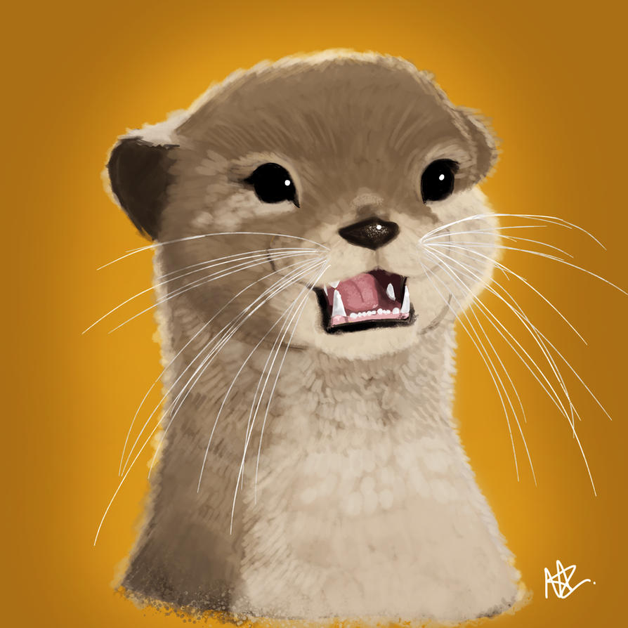 Otter by silver1ining
