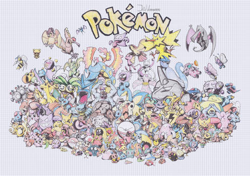 151 Pokemon graph paper