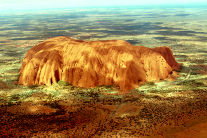[PHOTOGRAPHY] Uluru (Ayers Rock) From The Sky by TheAuzzieBrony
