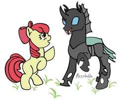 [MASTERED] Kerrie Changling and Apple Bloomb by TheAuzzieBrony