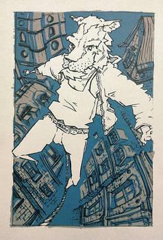 Screen Print of Pride Sketch