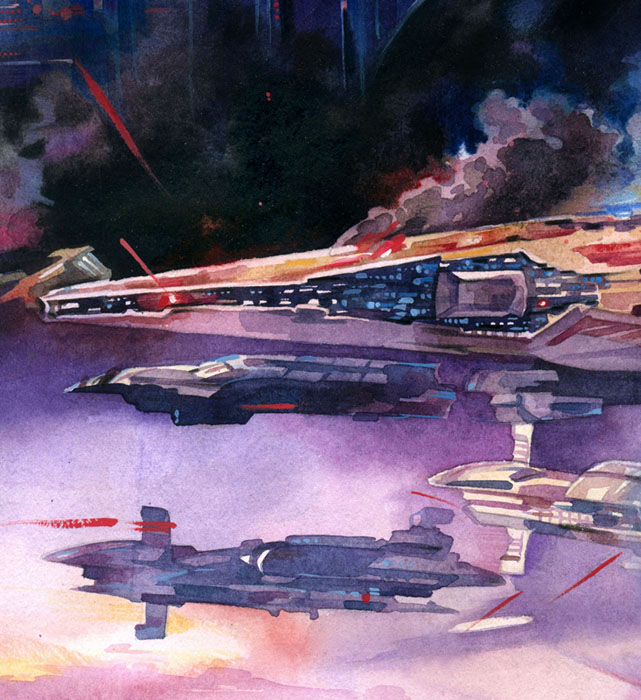 Space Battle: RotS Close-up by Callista1981