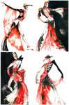 Rouge et Noir - Fashion sketch