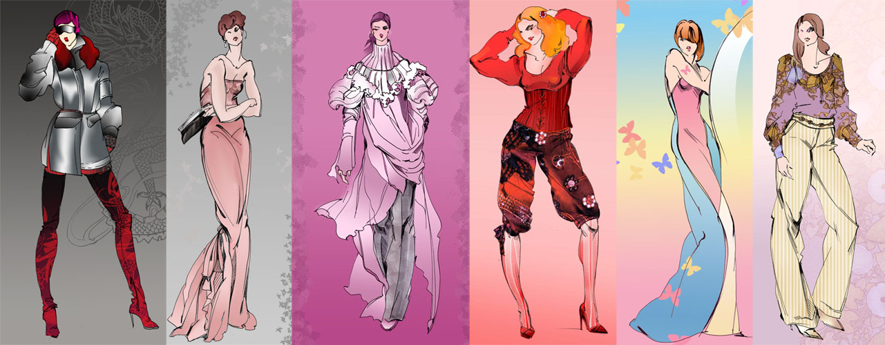 :More Fashion Sketches: by Callista1981