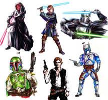 Star Wars: guys by Callista1981