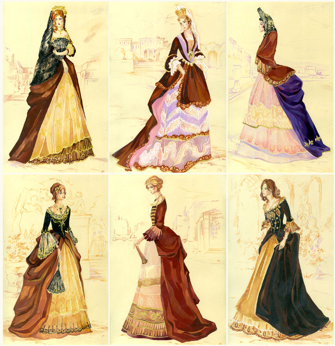 Ladies of 1680s by Callista1981