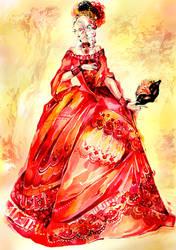 Chrimson Masquerade Dress by Callista1981