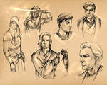 KotOR I-II Boys - Sketches