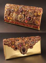 Legend - Embroidered Clutch Bag by Callista1981
