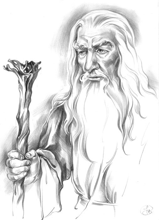 gandalf the gray coloring pages - photo#6