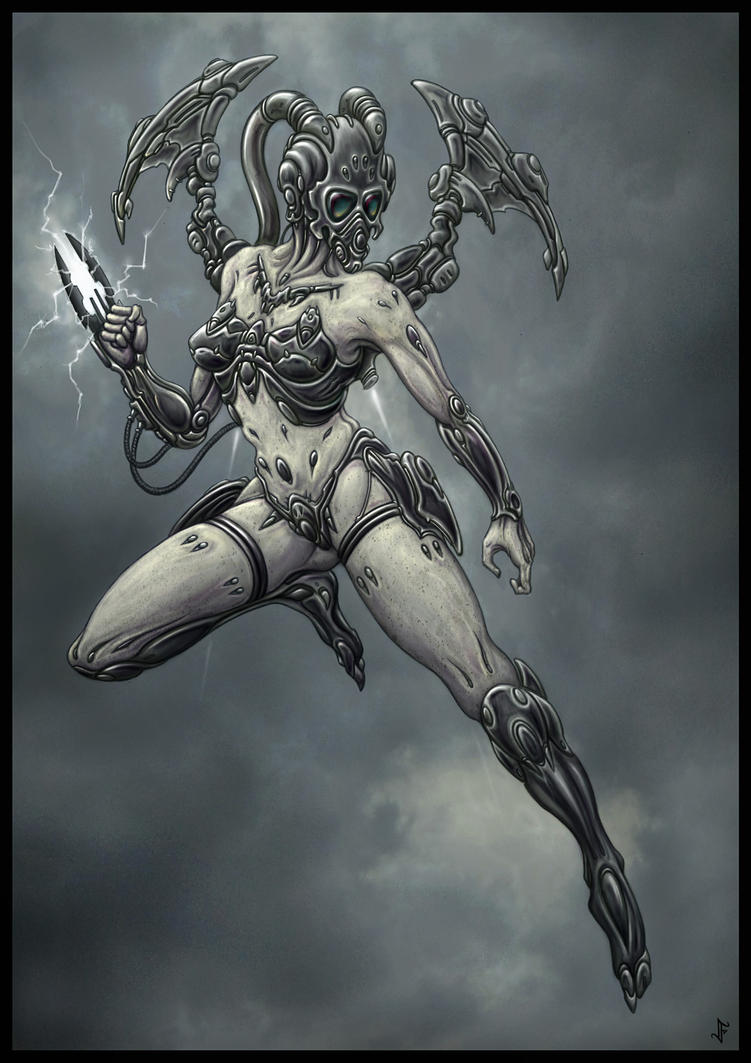 Transhuman Seraph by jflaxman