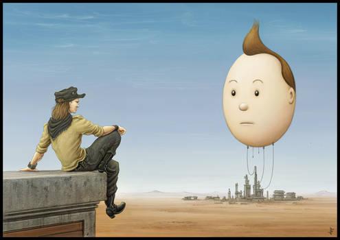 Tintin's Head by jflaxman