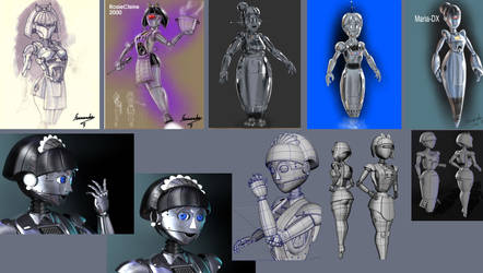 robo-maid-desing and 3d