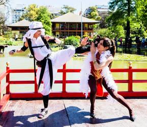 Fight in the Kanzuki Mansion by vichun