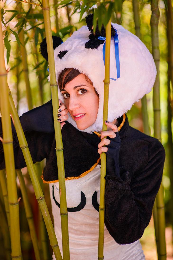 Chun-Li panda portrait by vichun