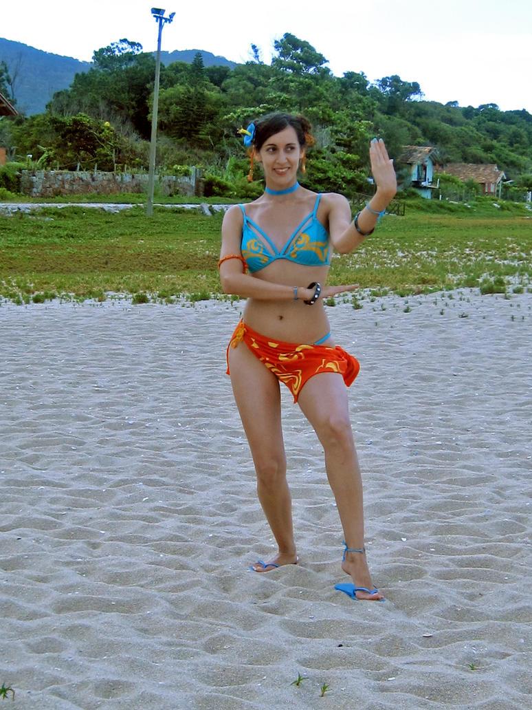 Chun-Li Vacations (DLC Costume) by vichun