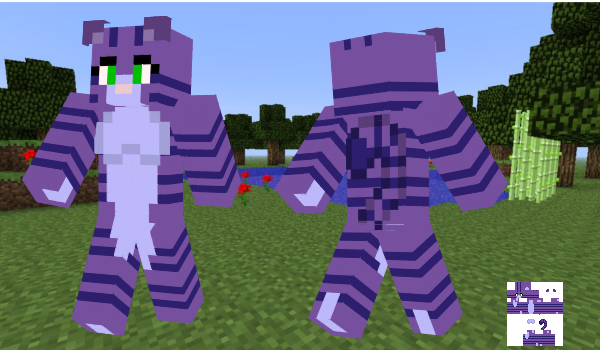 Lavander Kitty Minecraft Skin by BlueFoxThom