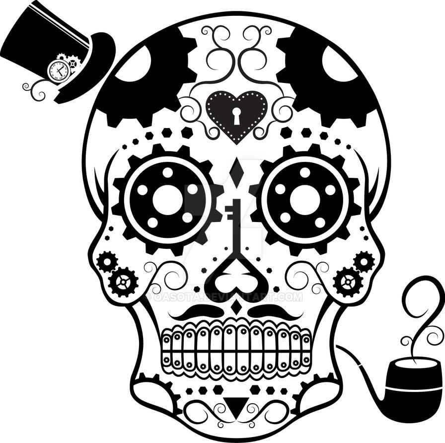 Steam Punk Candy Skull by OASOTA by oasota