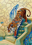 Tiger and Stairs