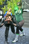 Green Lantern and Black Canary