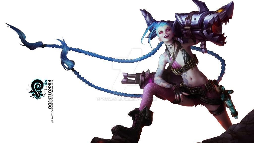 Jinx League of Legends Render by ViciousBlue