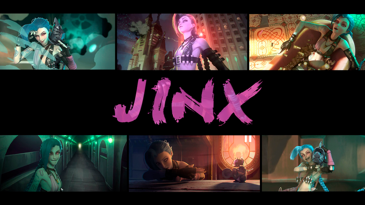 wallpaper jinx league of legendsviciousblue on deviantart