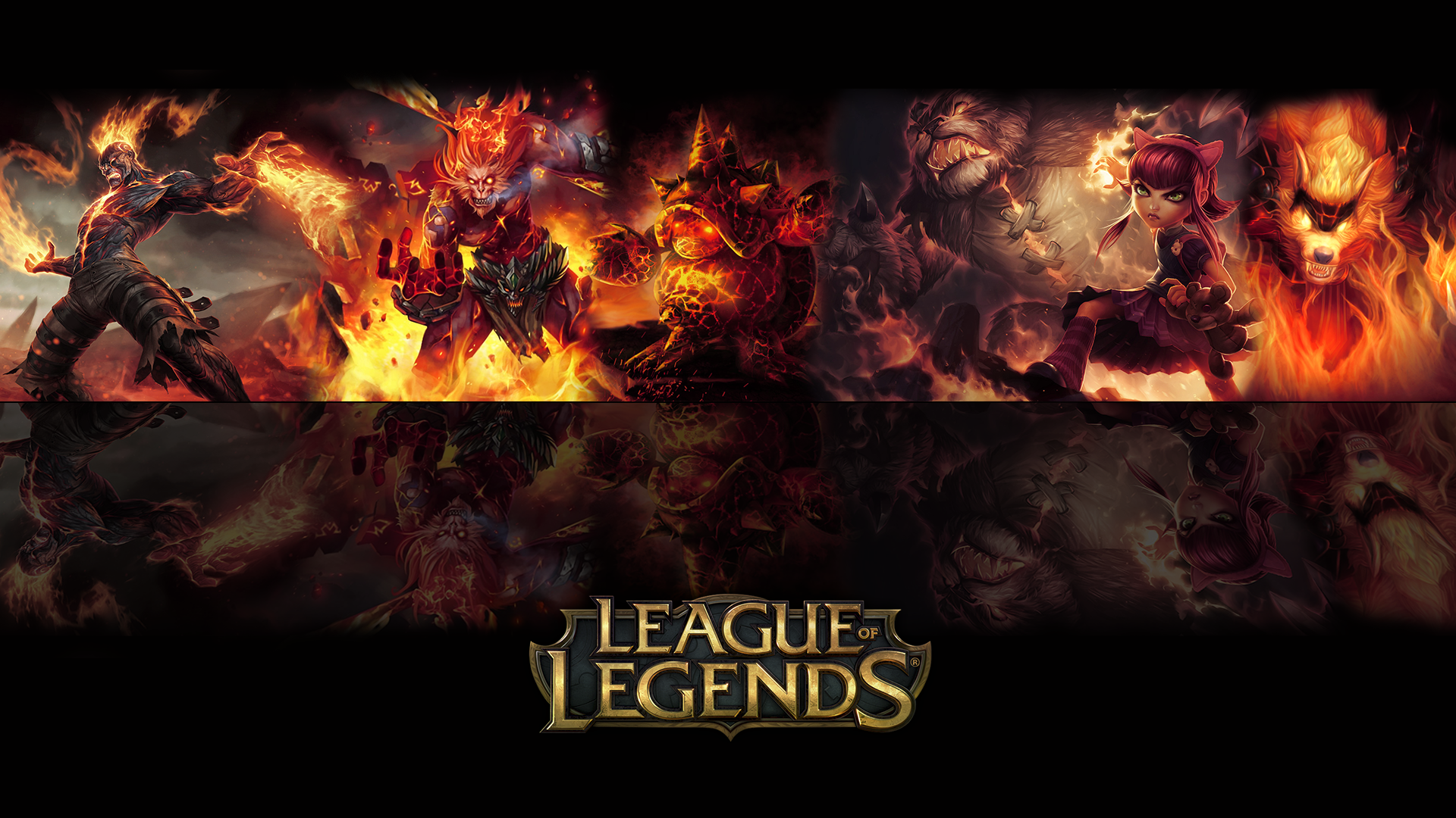 League Of Legends Fire Wallpaper By ViciousBlue