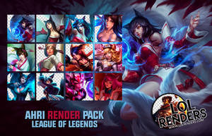 League of Legends Ahri Render Pack by ViciousBlue