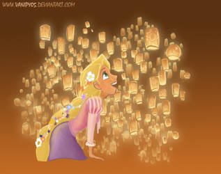 Tangled: the lanterns by vanipy05