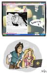 Rapunzel+Flynn's reaction to..