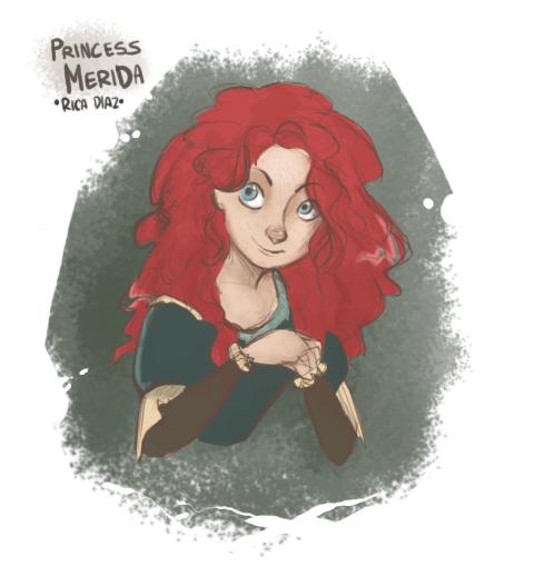 Merida - the Brave princess. by vanipy05