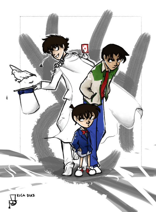 Kaito, Conan and Heiji by vanipy05